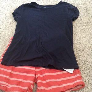 Gap kids navy top size 10 L shorts size 10